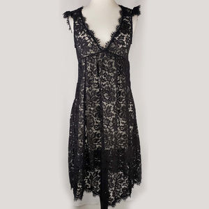 Rebecca Taylor Saks Fifth Avenue black lace dress